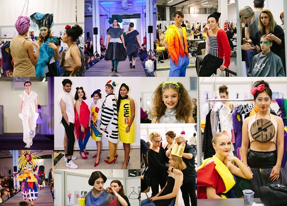 Collage mit Kids in Fashion-Modells